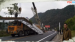 一年白跑了!重型卡车撞垮限高架钢梁车主可能要赔10万